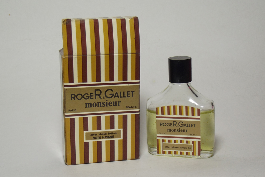 miniature Monsieur de Roger Et Gallet After shave lotion 50 ° 3/4 plein avec sa notice